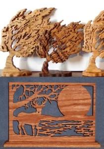 dessiner des silhouettes en bois