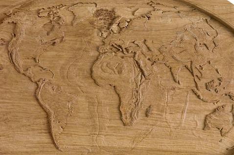 graver sur bois une carte du monde machine et fraiseuse cnc. Black Bedroom Furniture Sets. Home Design Ideas